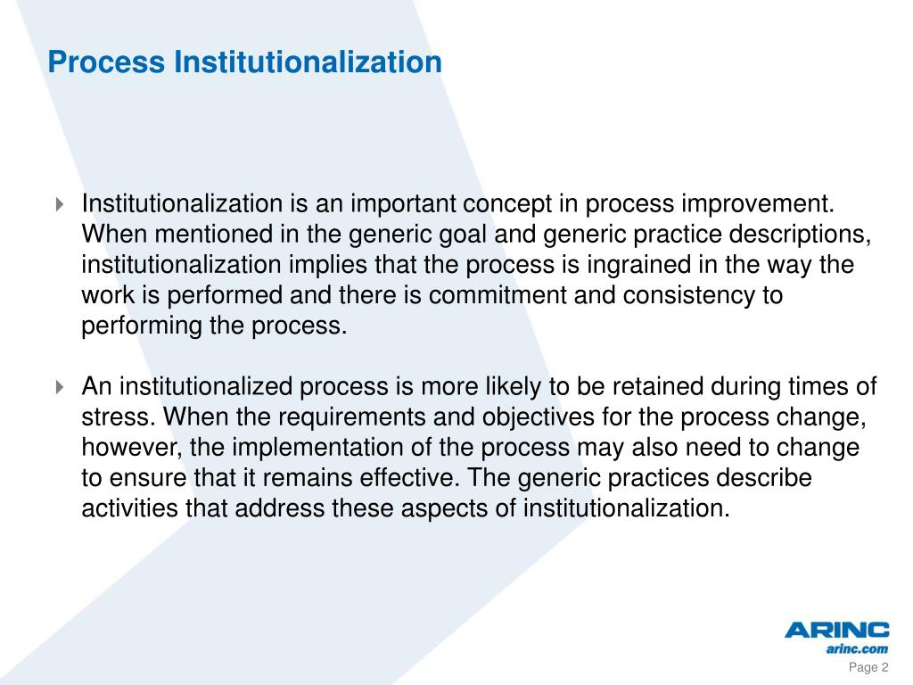 Process Institutionalization