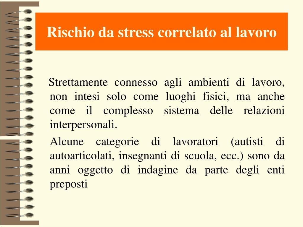 Rischio da stress correlato al lavoro