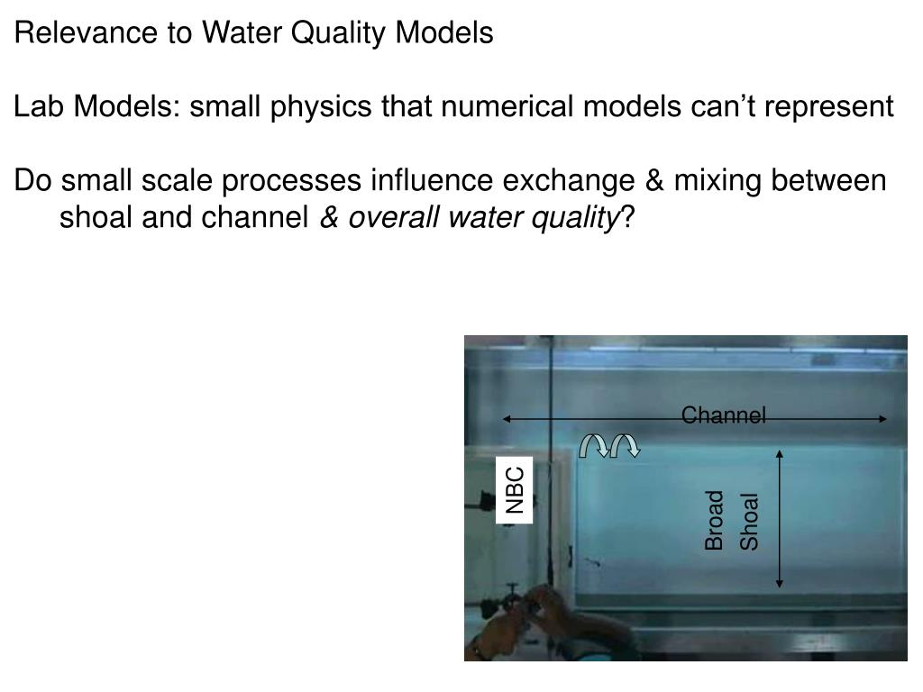 Relevance to Water Quality Models