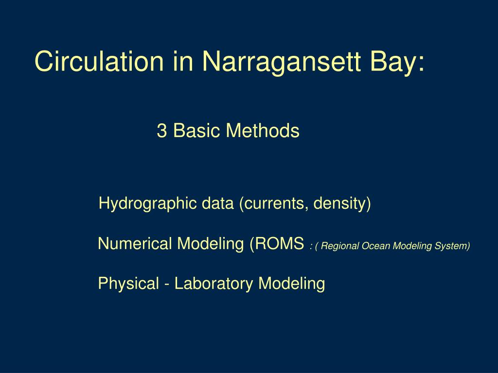 Circulation in Narragansett Bay: