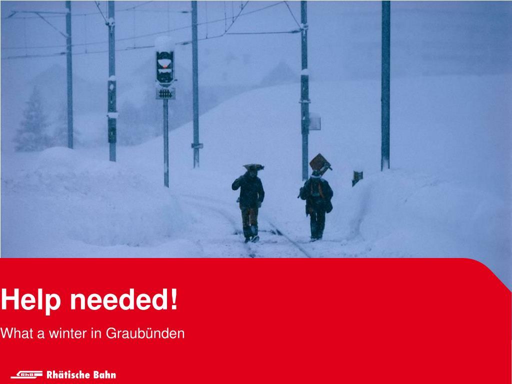 What a winter in Graubünden