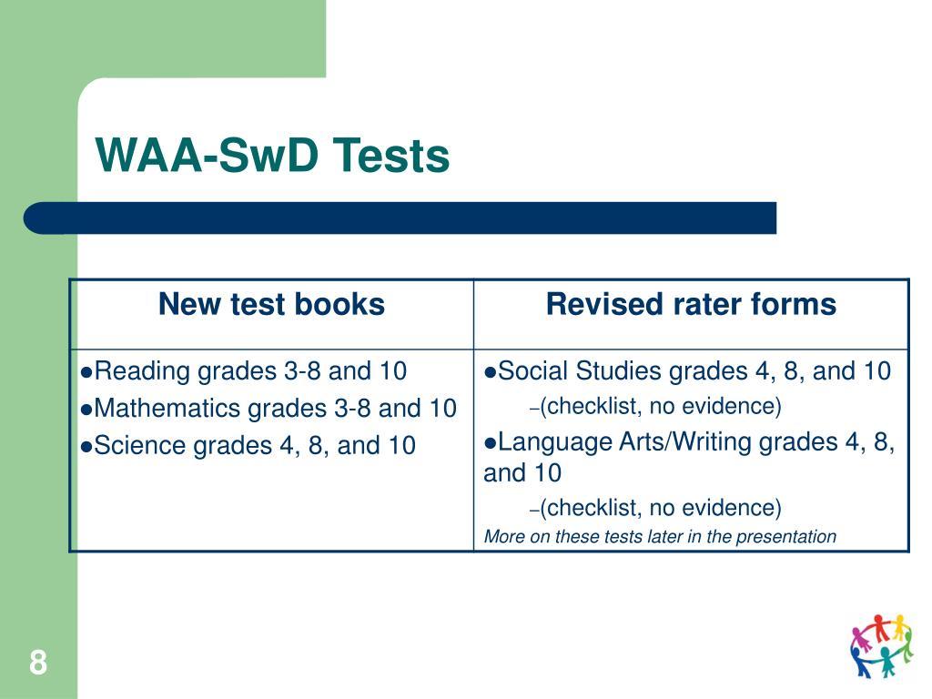 WAA-SwD Tests