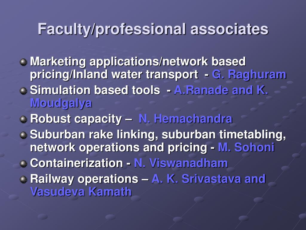 Faculty/professional associates