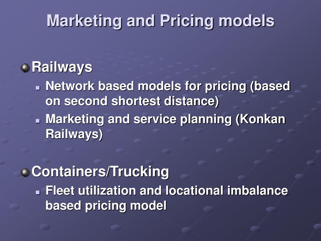 Marketing and Pricing models