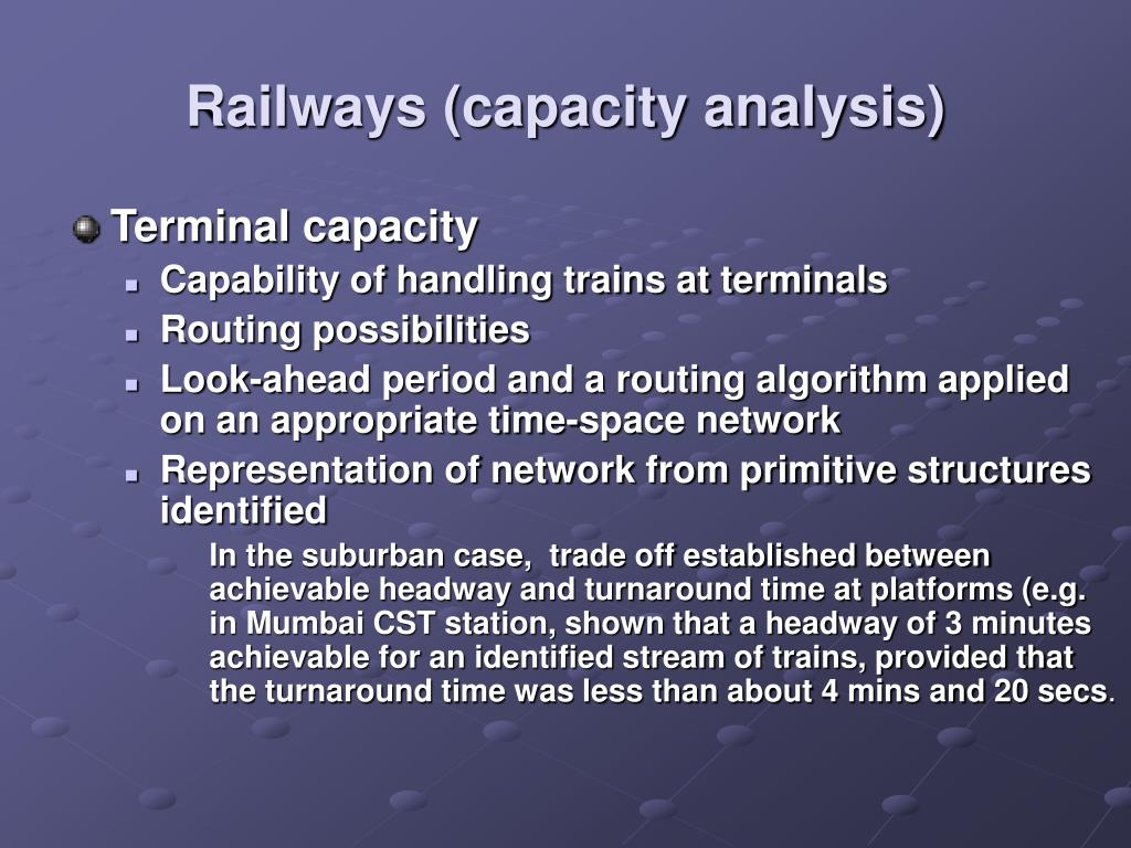 Railways (capacity analysis)