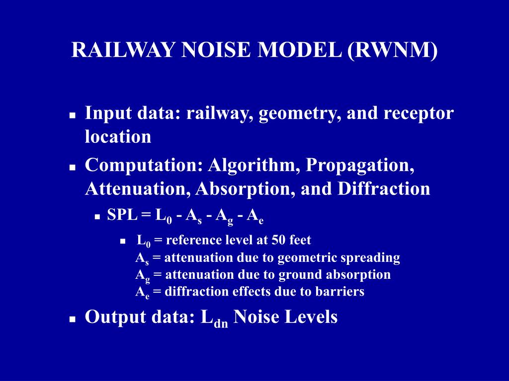 Input data: railway, geometry, and receptor location