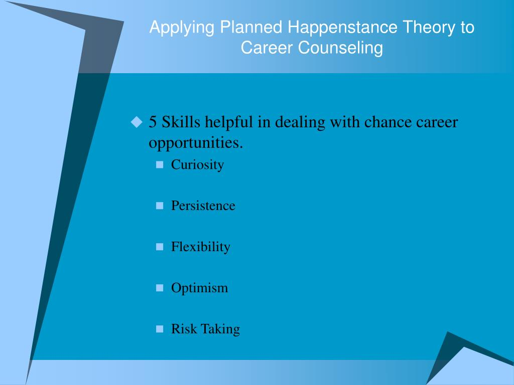 career guidance theories I was inspired by liane's workshop on career guidance theories she brought the materials to life with relevant and engaging examples,.