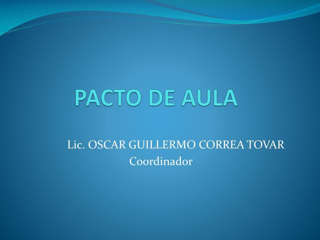 PACTO DE AULA