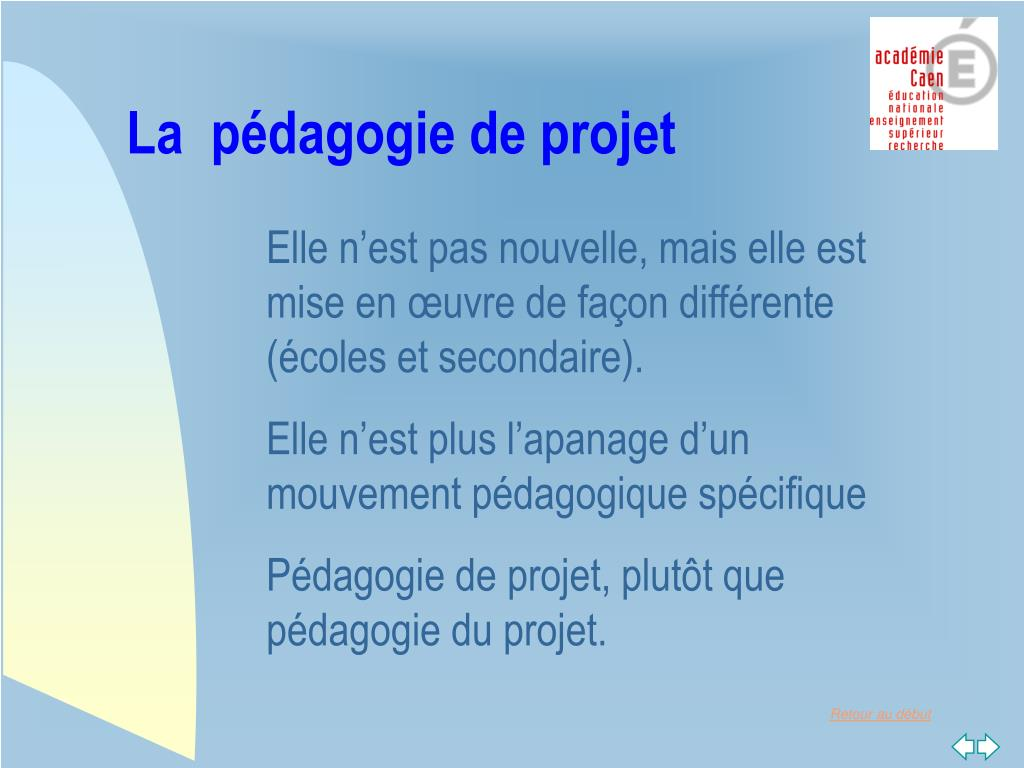 La  pédagogie de projet