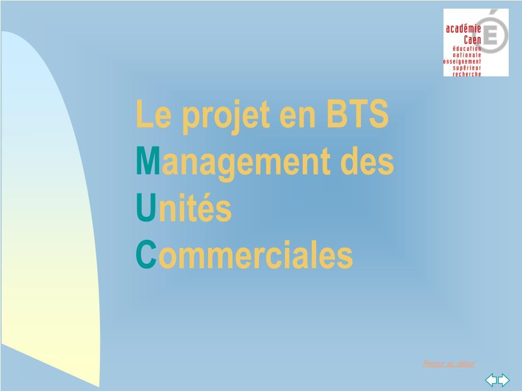 Le projet en BTS