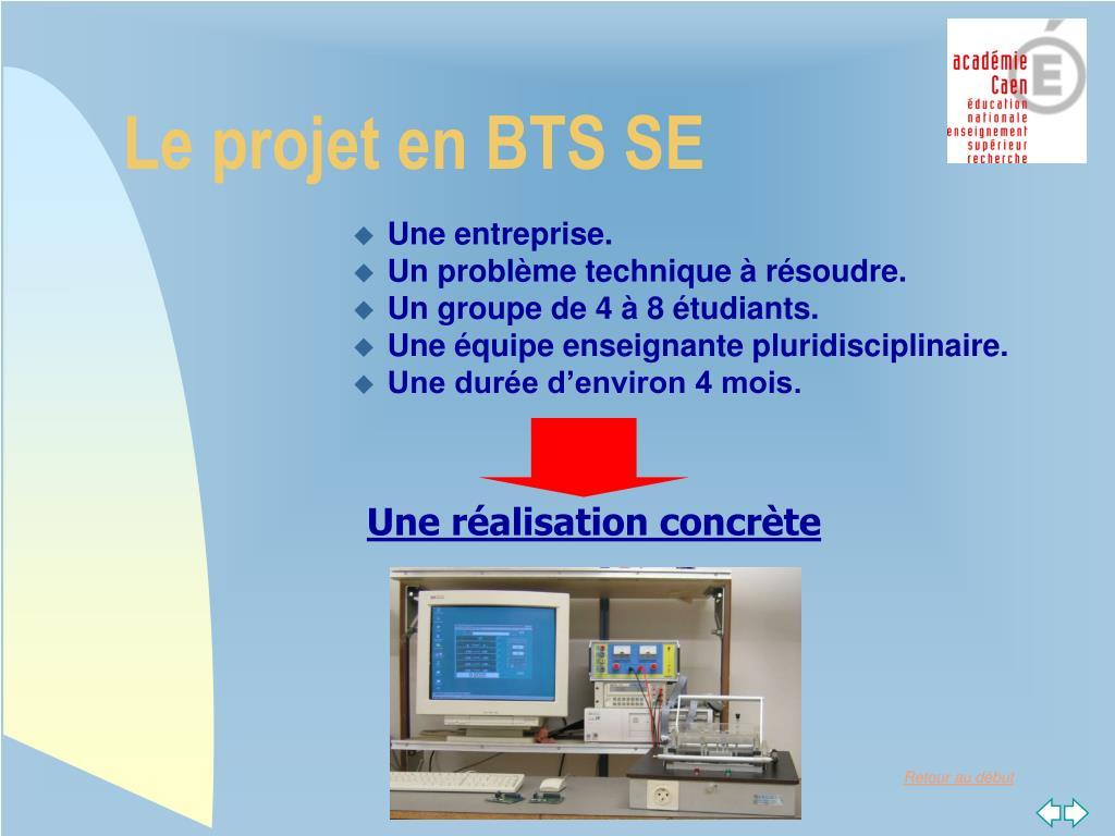 Le projet en BTS SE