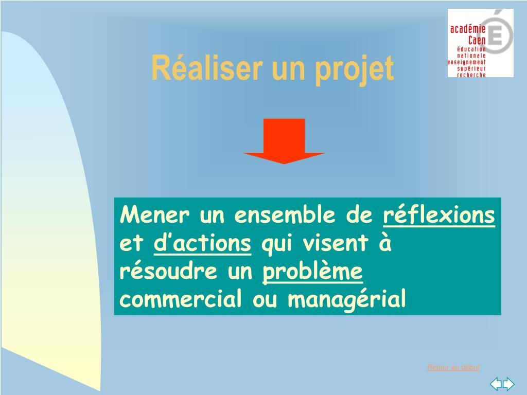 Réaliser un projet