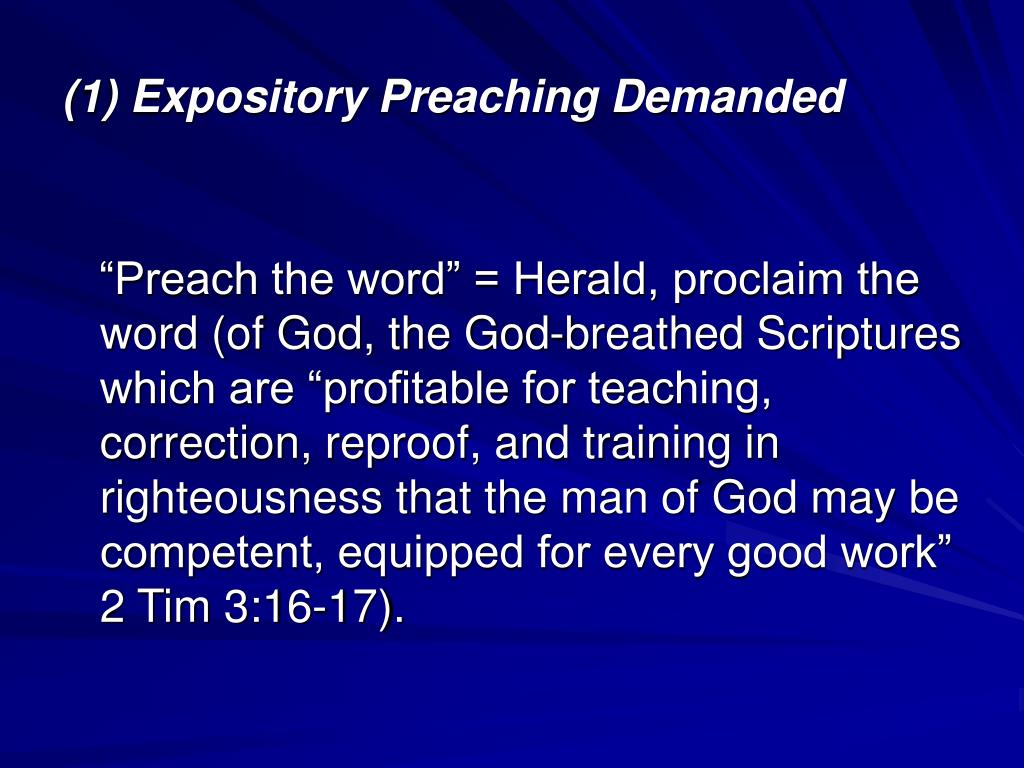 How to Preach Expository Sermons