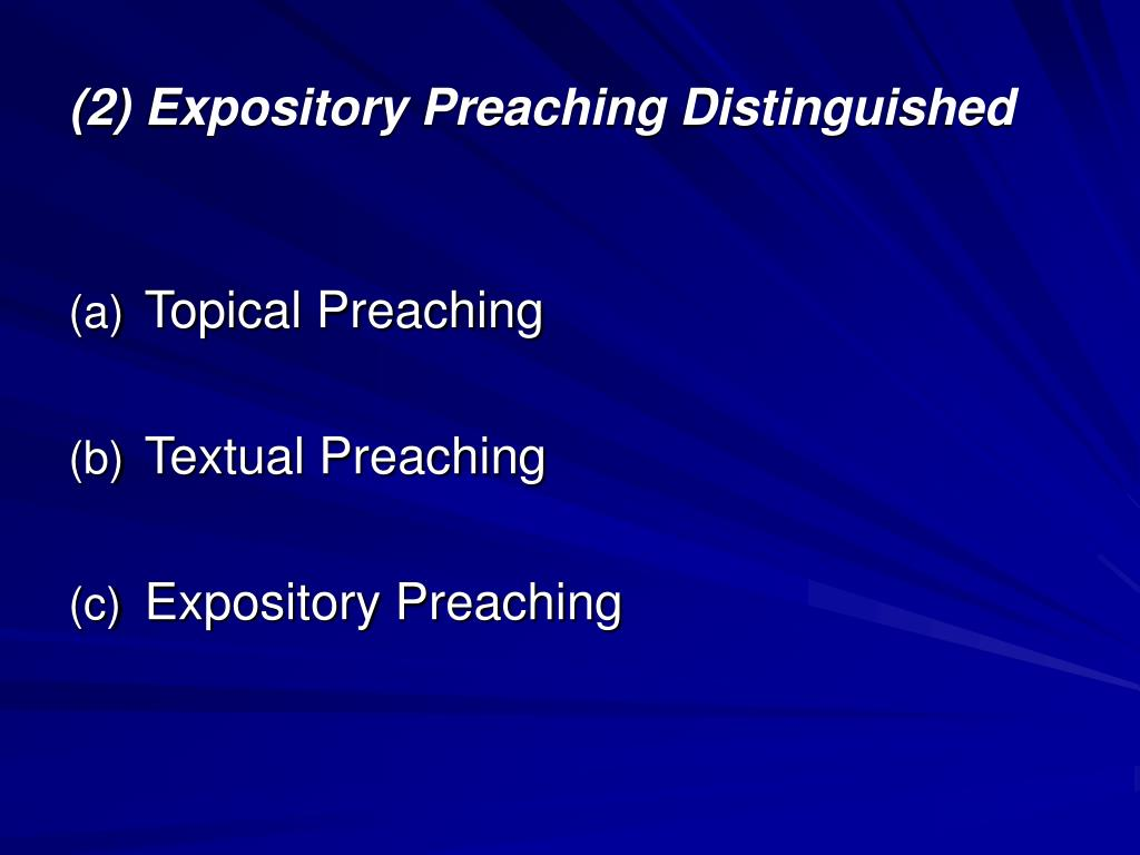 preach the word essays on expository preaching