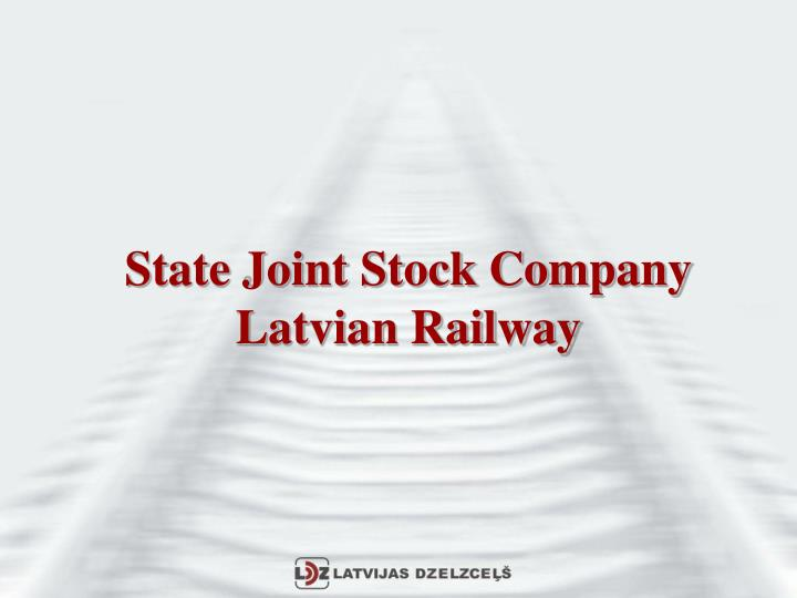State joint stock company latvian railway