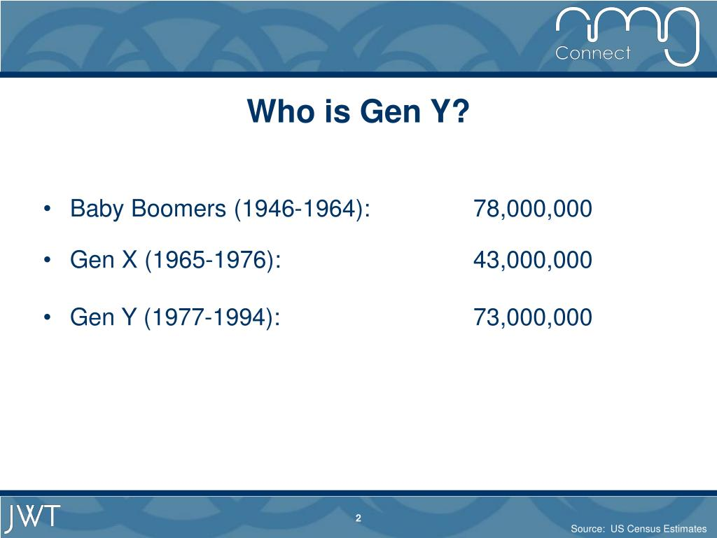 Who is Gen Y?