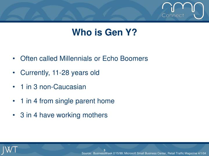 Who is gen y3