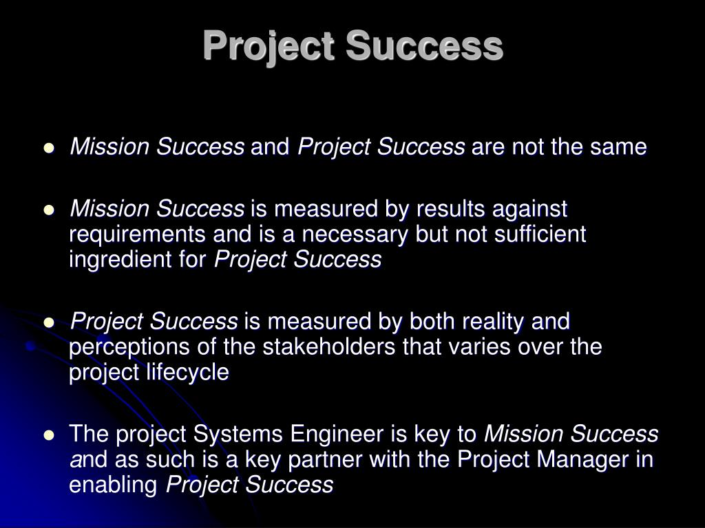Project Success