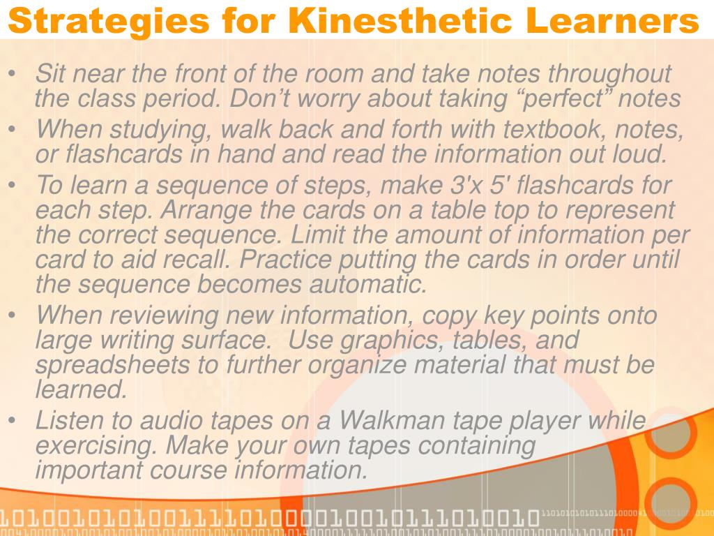 Strategies for Kinesthetic Learners