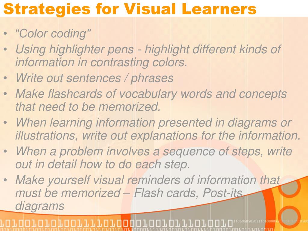 Strategies for Visual Learners
