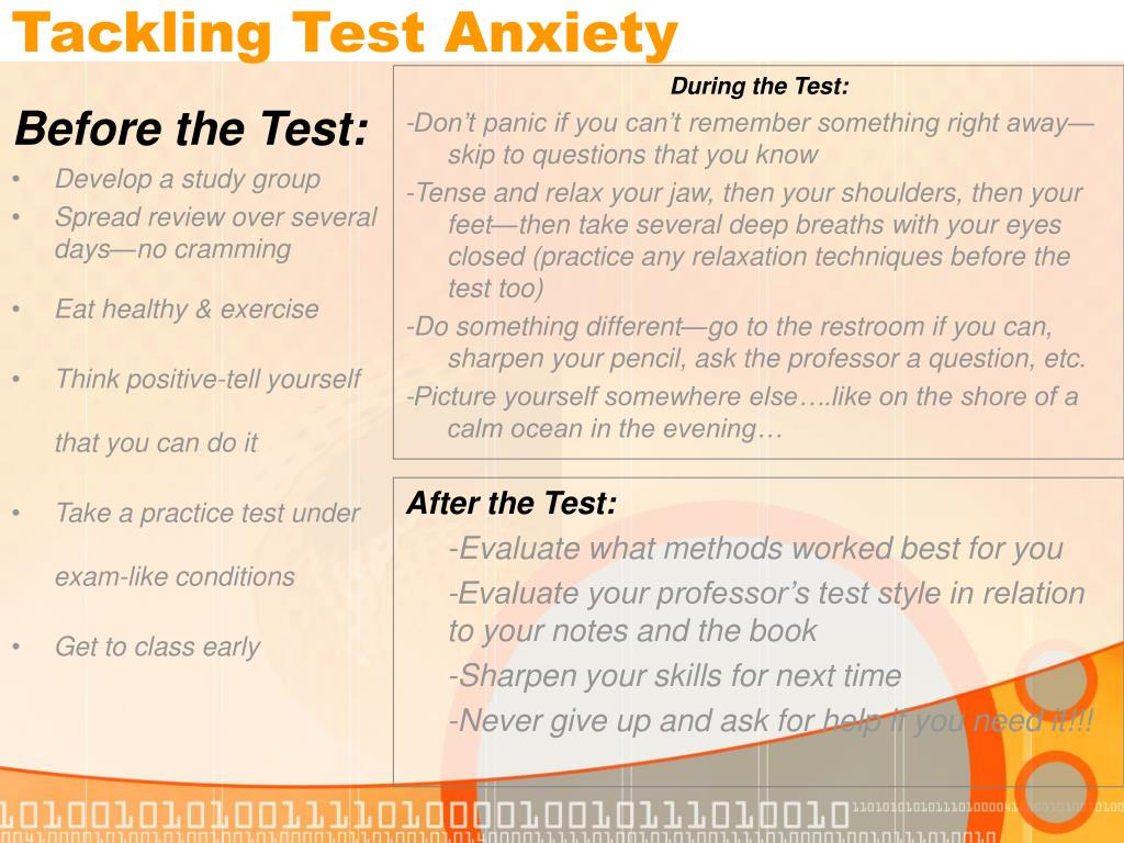 Tackling Test Anxiety
