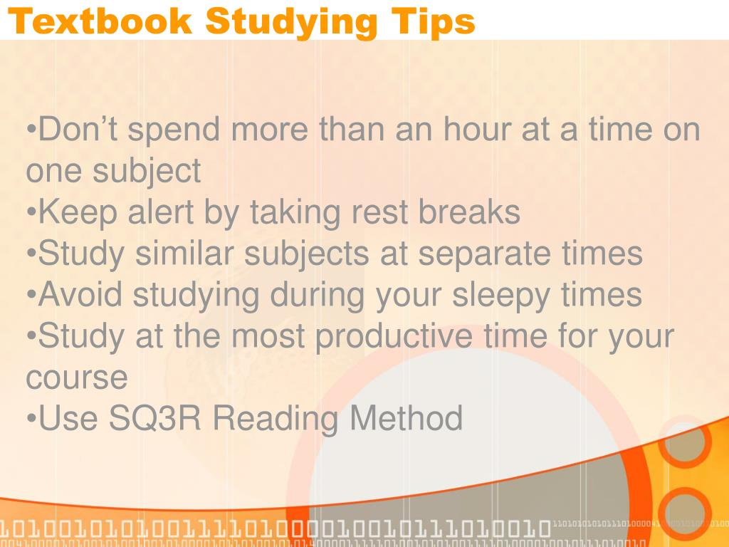 Textbook Studying Tips