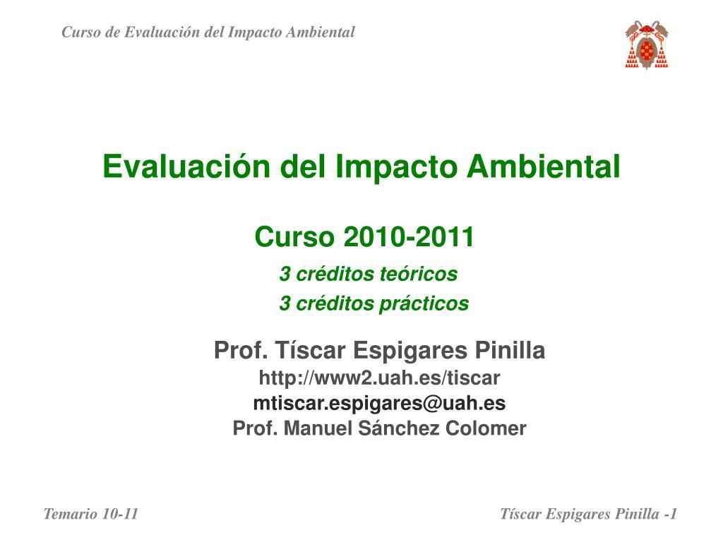 evaluaci n del impacto ambiental