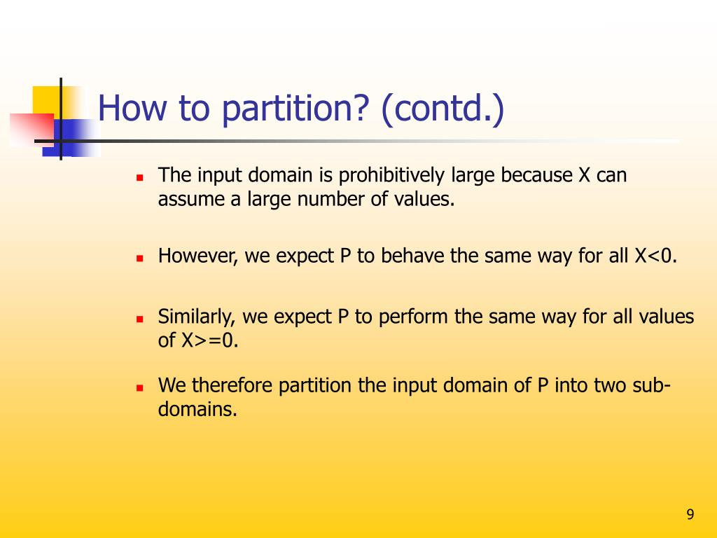 How to partition? (contd.)