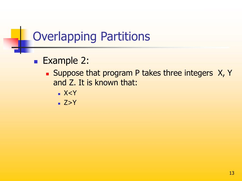 Overlapping Partitions