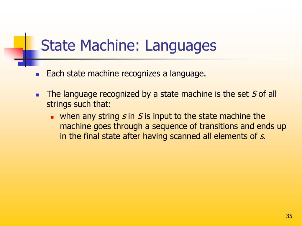 State Machine: Languages