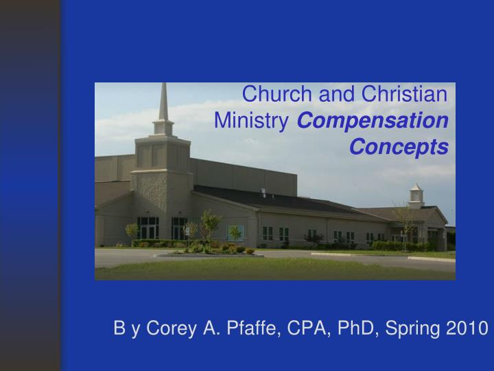 Church and christian ministry compensation concepts l.jpg