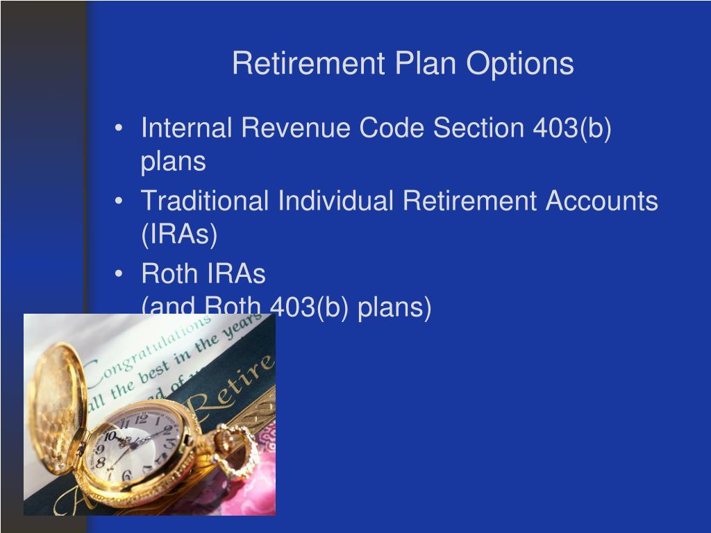 Retirement Plan Options