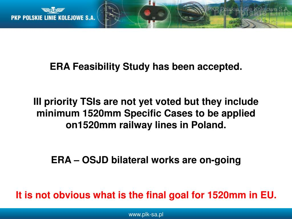 ERA Feasibility Study has been accepted.