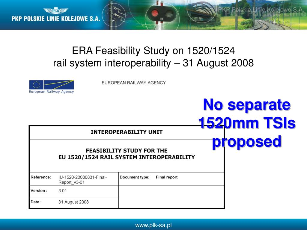 ERA Feasibility Study on 1520/1524