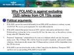 why poland is against excluding 1520 railway from cr tsis scope