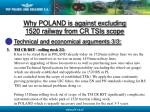 why poland is against excluding 1520 railway from cr tsis scope14