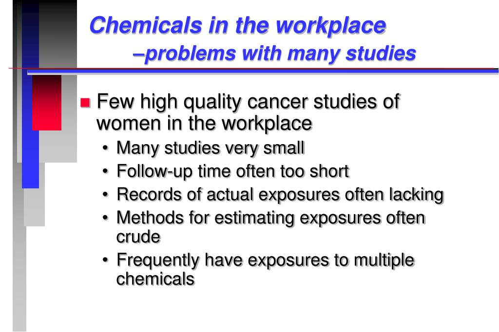 Chemicals in the workplace