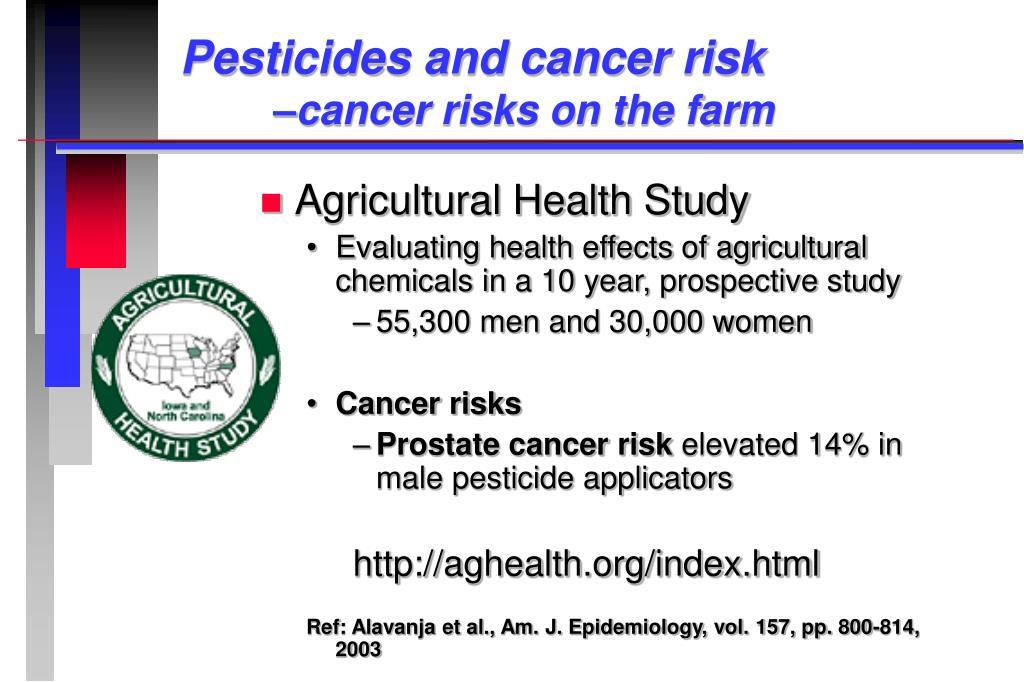 Pesticides and cancer risk