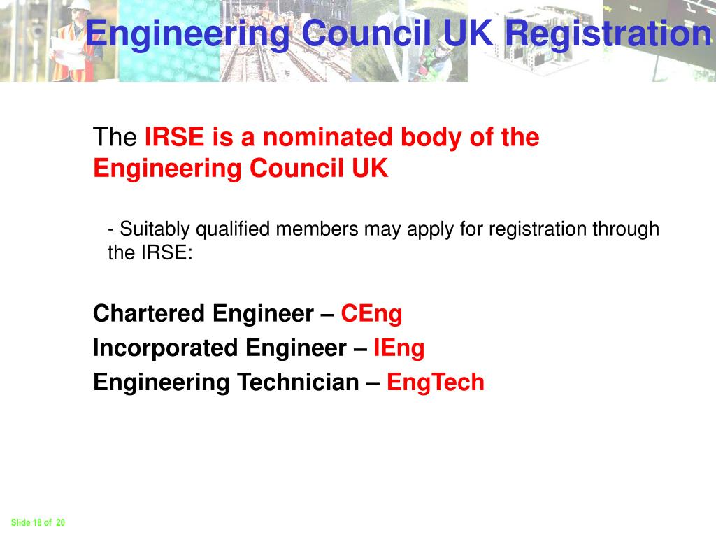 Engineering Council UK Registration