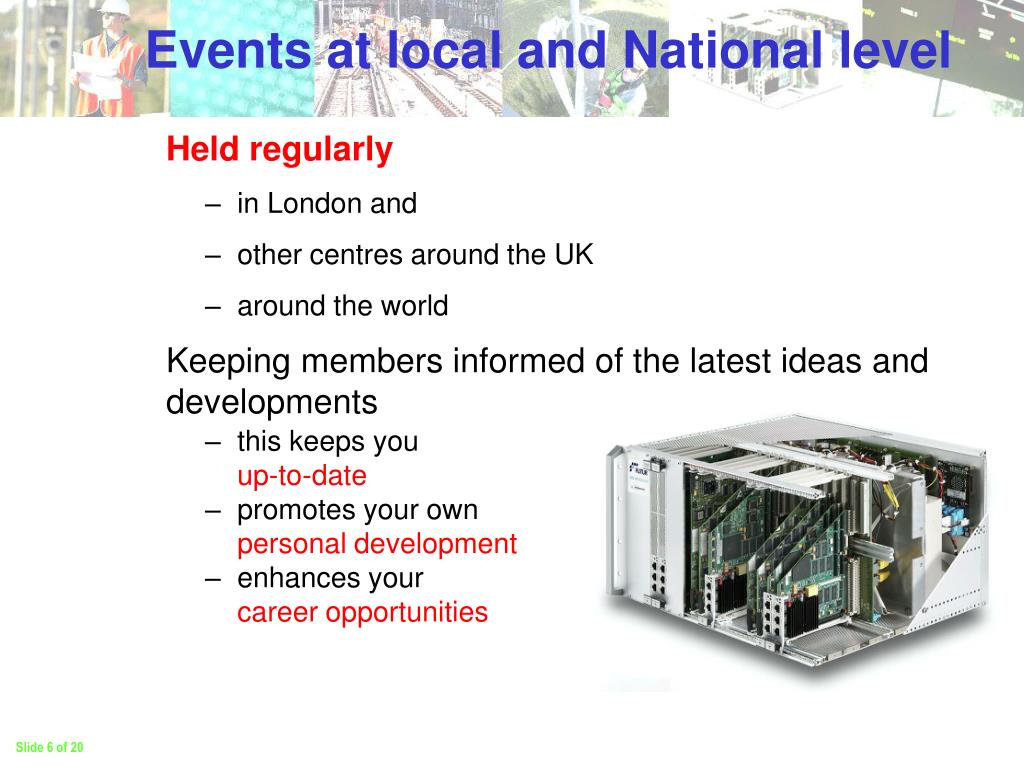 Events at local and National level