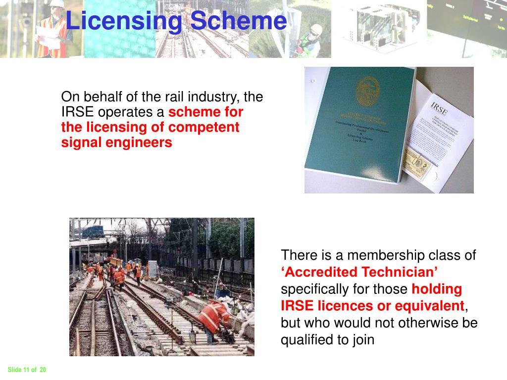 Licensing Scheme