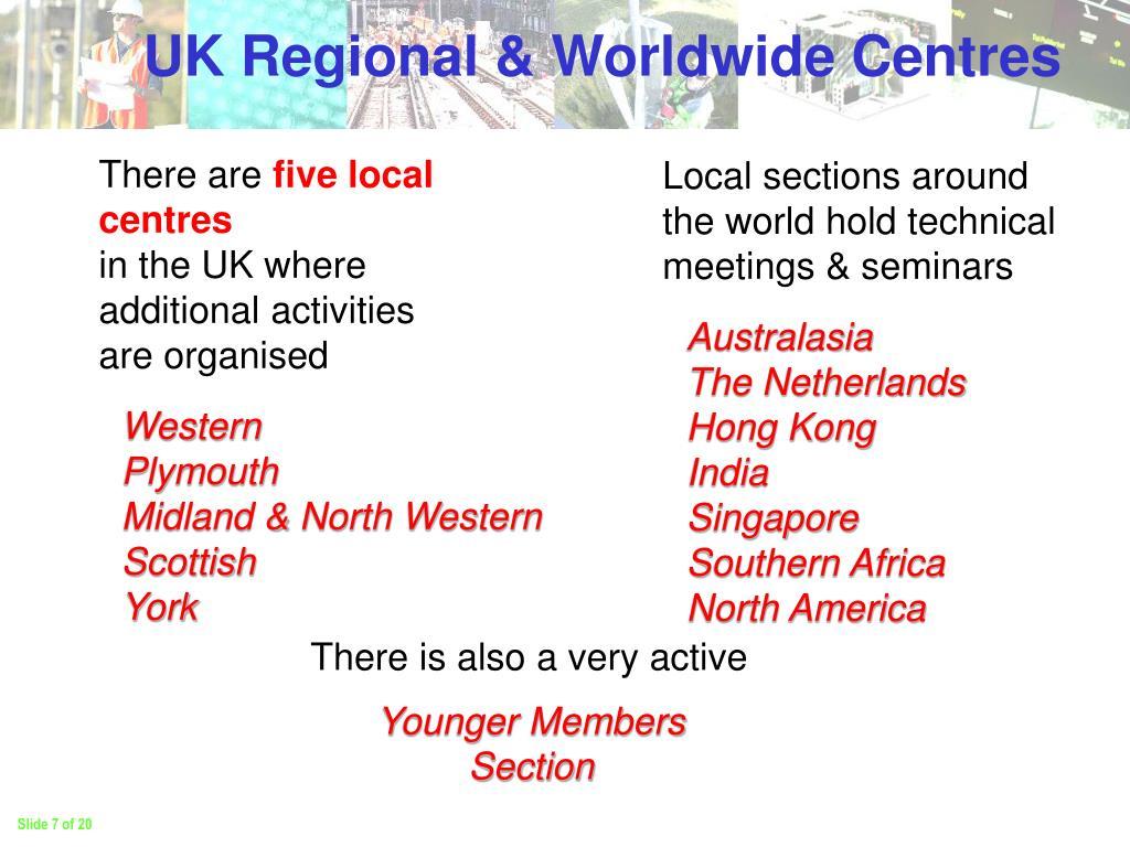 UK Regional & Worldwide Centres