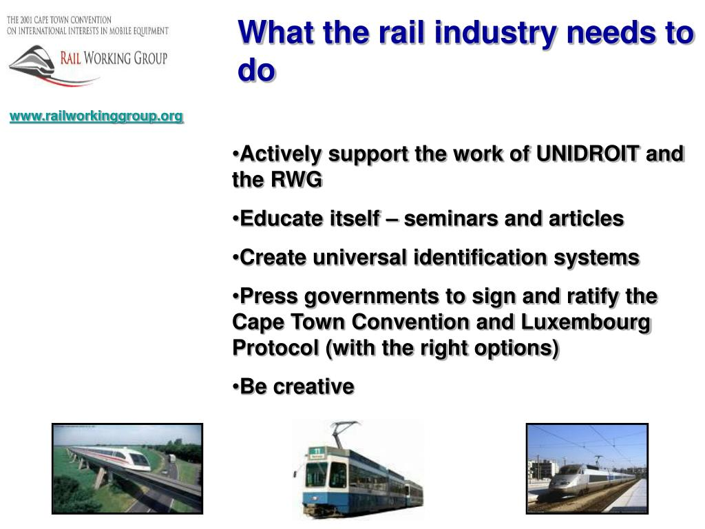 What the rail industry needs to do