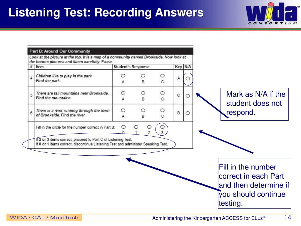 Listening Test: Recording Answers