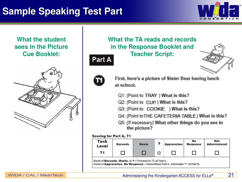Sample Speaking Test Part