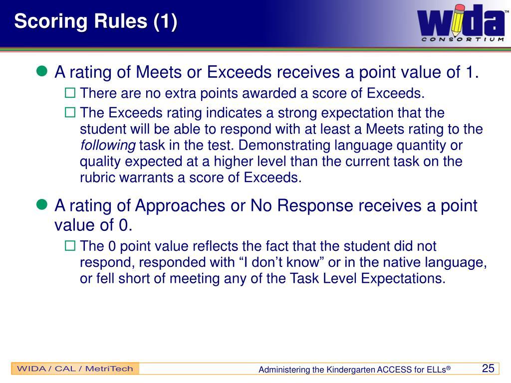 Scoring Rules (1)