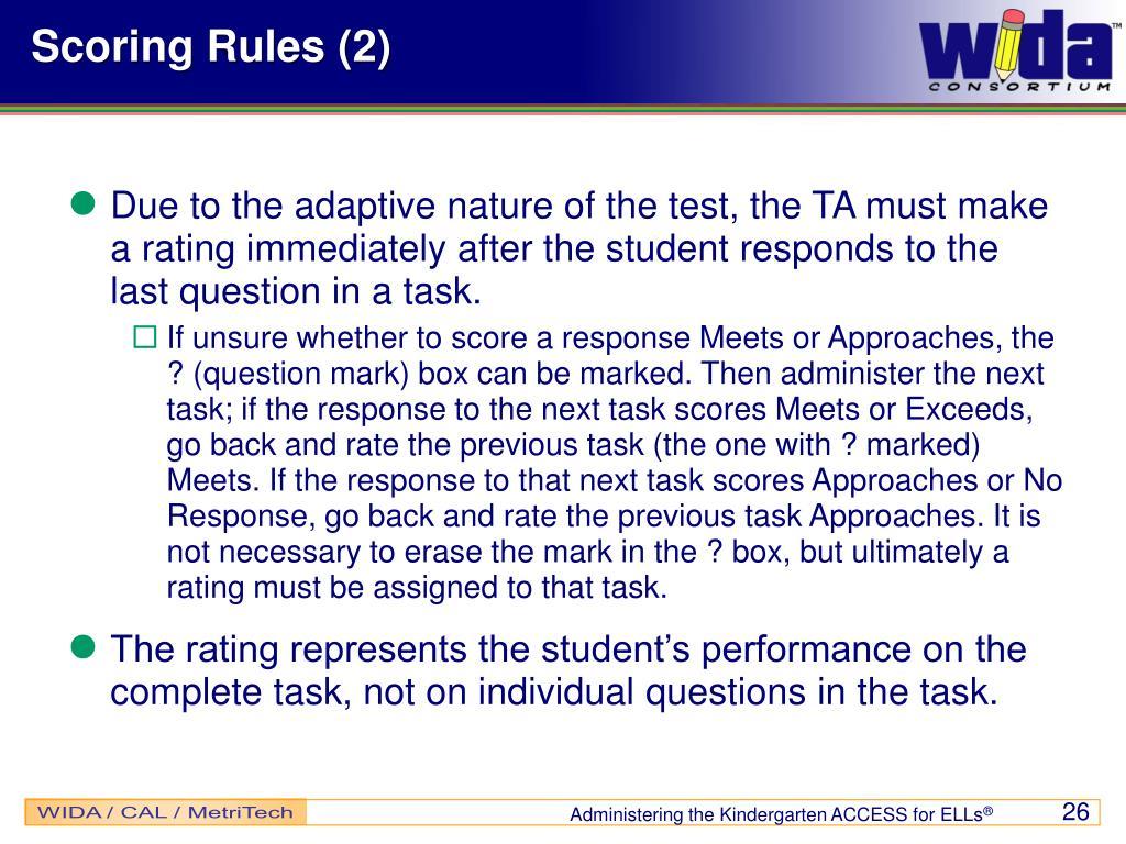 Scoring Rules (2)