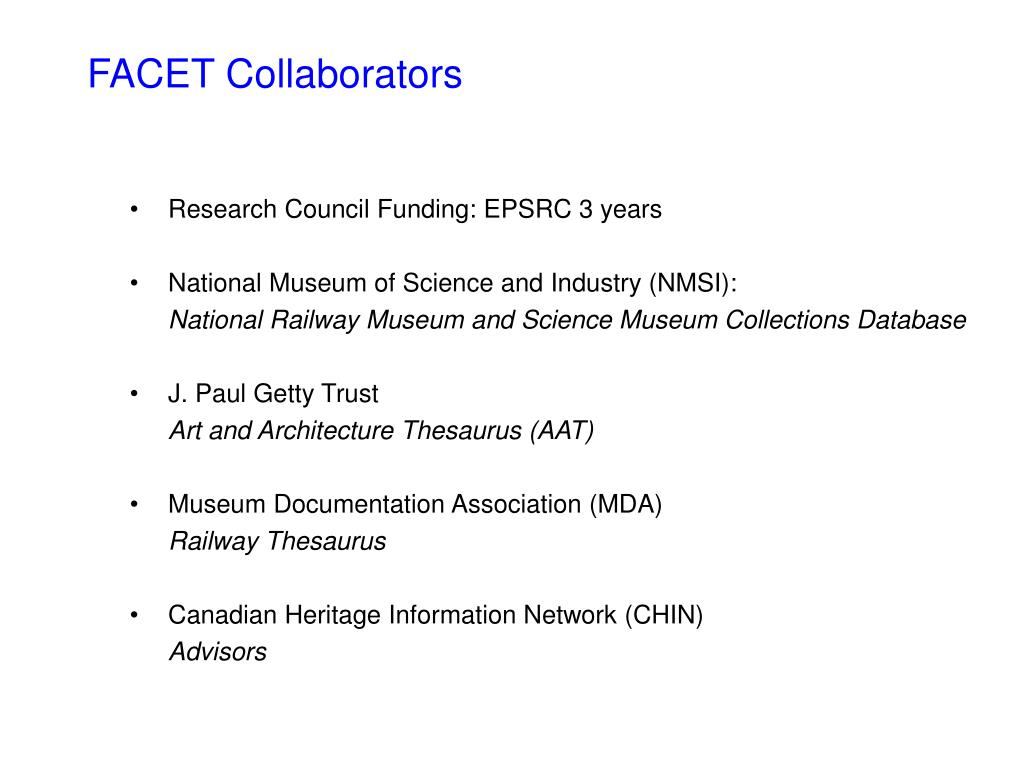 FACET Collaborators