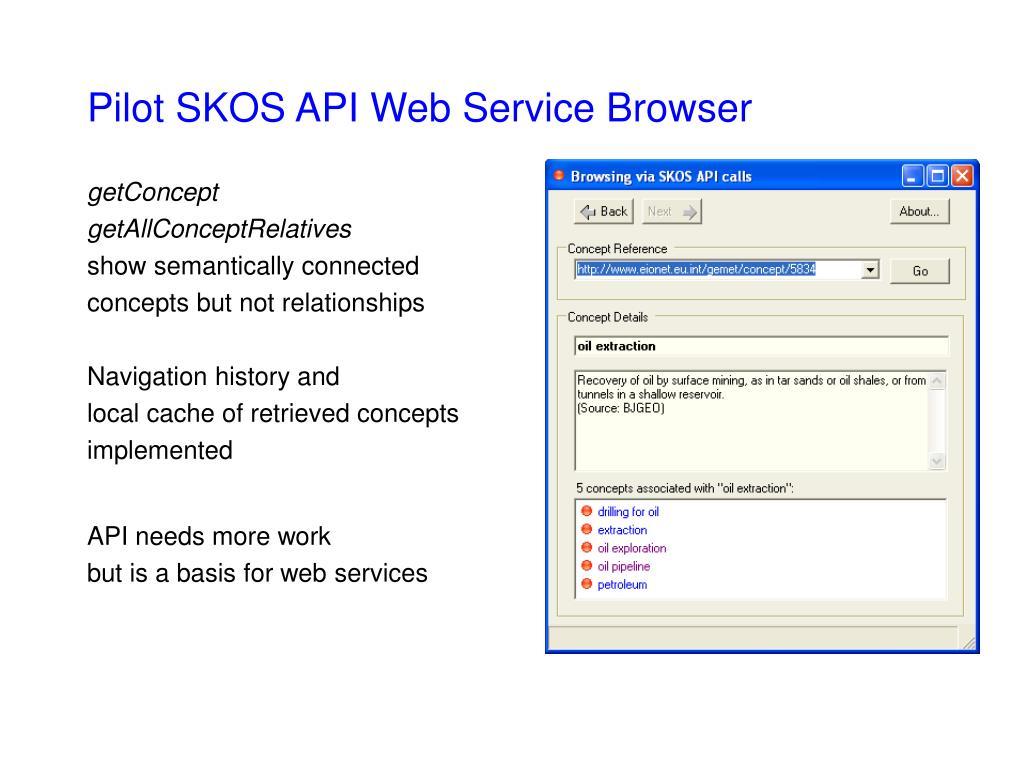Pilot SKOS API Web Service Browser