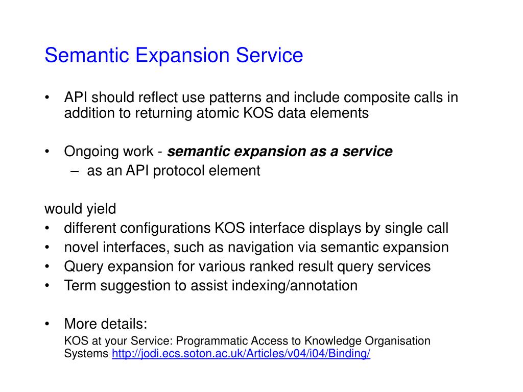 Semantic Expansion Service